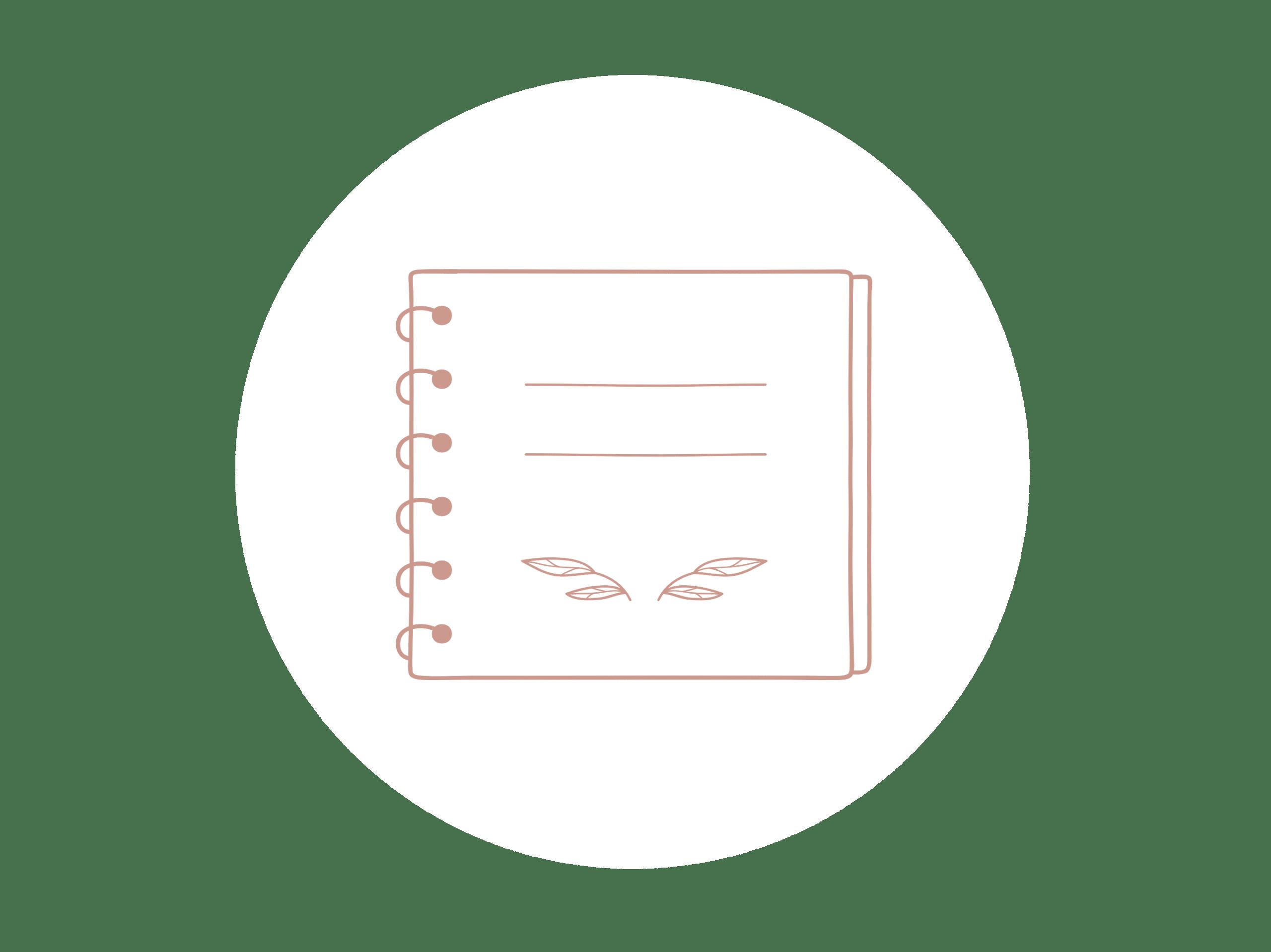 Dessin d'un cahier - supports de communication