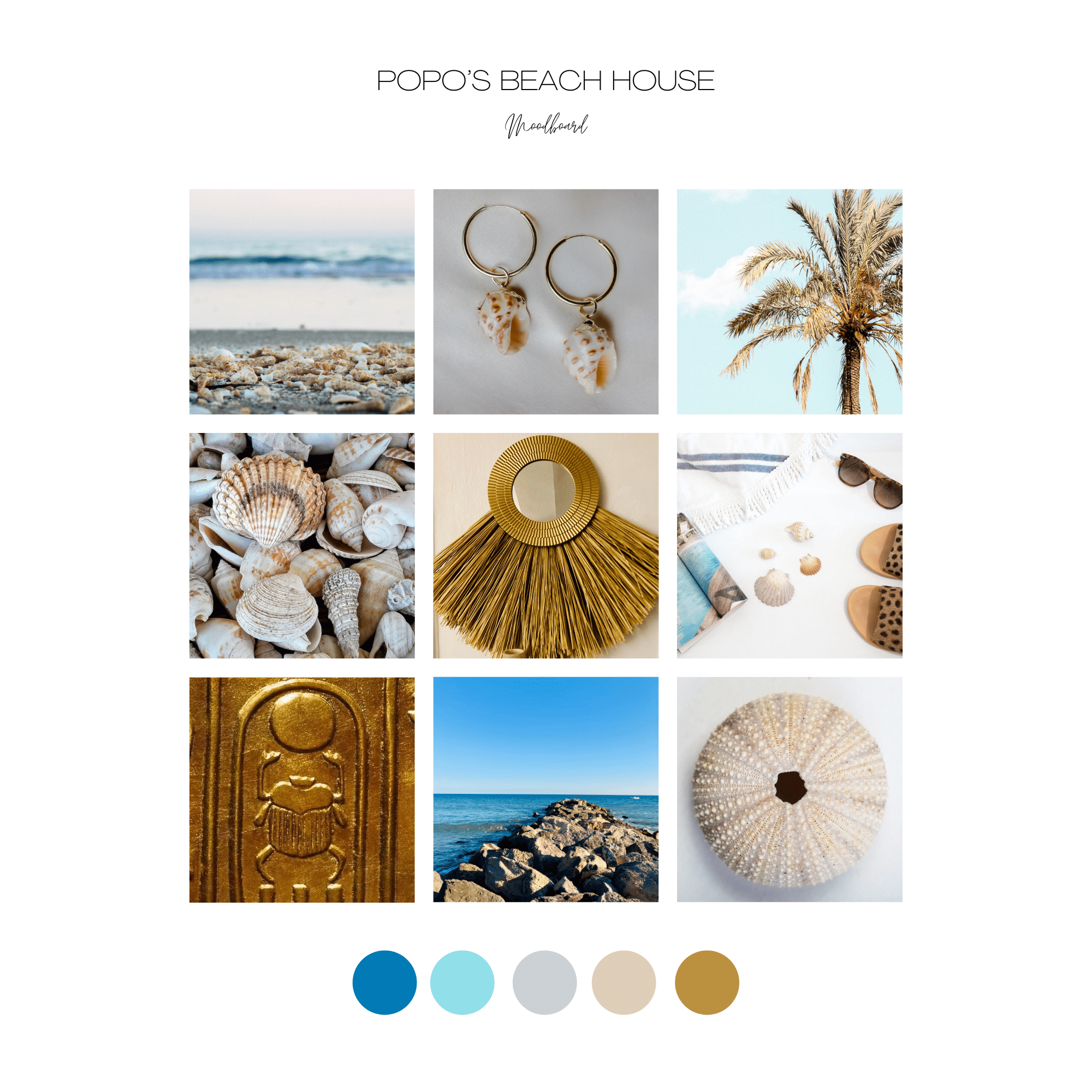Popos Beach House - moodboard